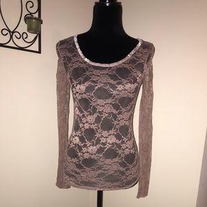 Delias Lace purple long sleeved shirt